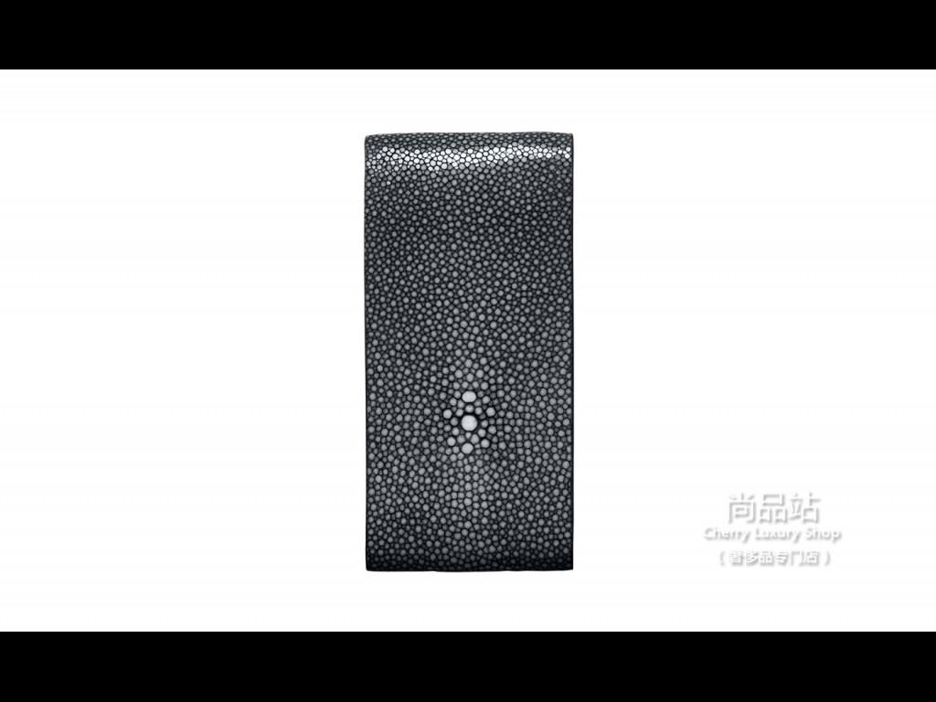 Vertu 黑色珍珠鱼皮翻盖手机套