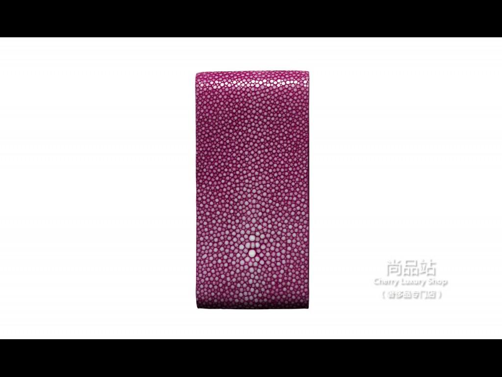 Vertu 粉色珍珠鱼皮翻盖手机套