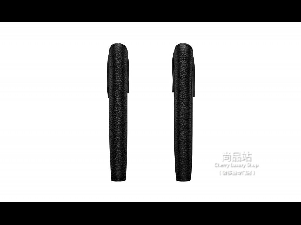 Vertu 黑色小牛皮滑入式手机套