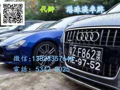 Audi 辦理港珠澳車牌